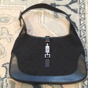 Gucci Jackie O Black canvas purse